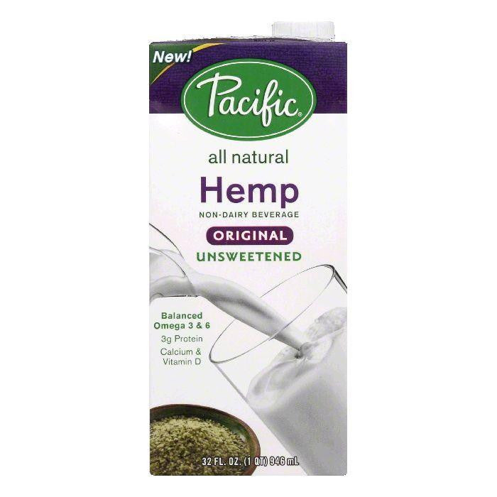 Pacific Unsweetened Original Hemp Non-Dairy Beverage, 32 Oz (Pack of 12)
