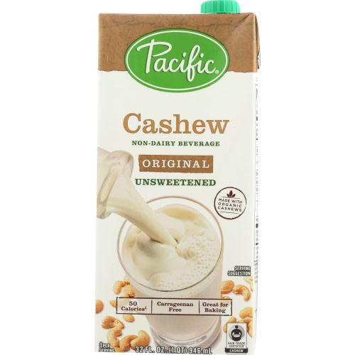 Pacific Foods Cashew Original Unsweetened, 32 fl oz (Pack of 6)