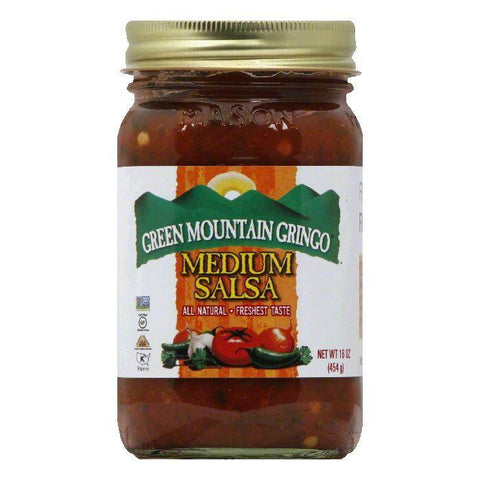 Green Mountain Gringo Salsa Medium, 16 OZ (Pack of 6)