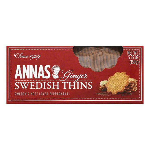 Annas Ginger Thins Cookies, 5.25 Oz (Pack of 12)