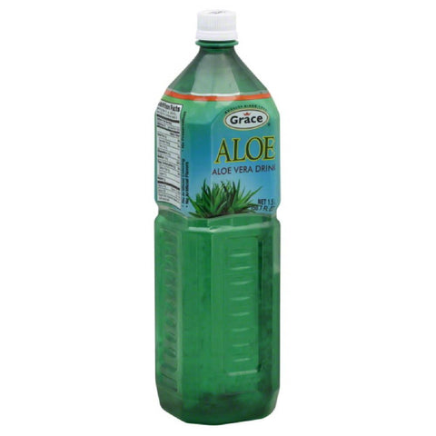 Grace Aloe Vera Drink, 1.5 Lt (Pack of 12)