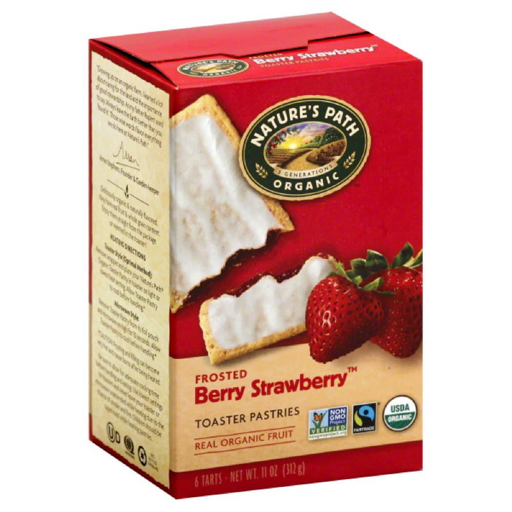Natures Path Berry Strawberry Frosted Toaster Pastries, 11 Oz (Pack of 12)