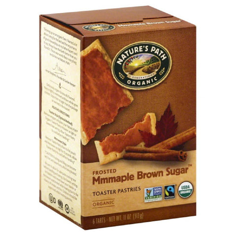 Natures Path Mmmaple Brown Sugar Frosted Organic Toaster Pastries, 11 Oz (Pack of 12)