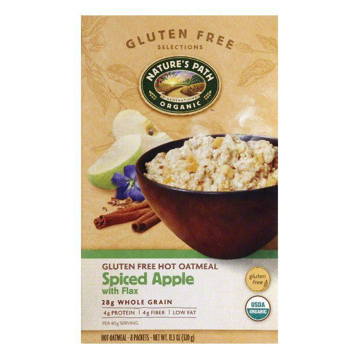 Natures Path Spiced Apple with Flax Oatmeal, 11.3 Oz (Pack of 6)