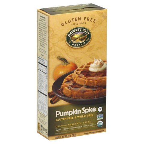 Natures Path Pumpkin Spice Waffles, 7.4 Oz (Pack of 12)