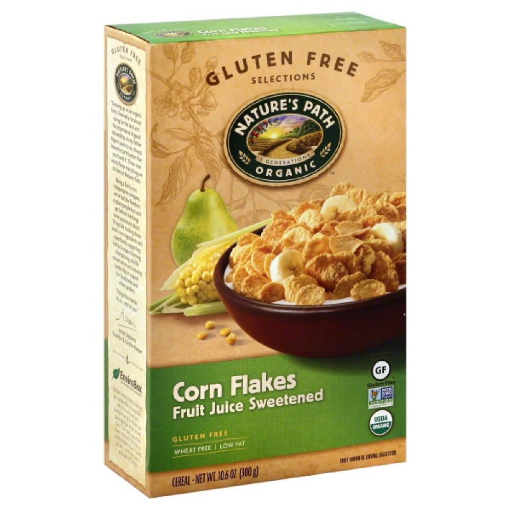Natures Path Fruit Juice Sweetened Corn Flakes Cereal, 10.6 Oz (Pack of 12)