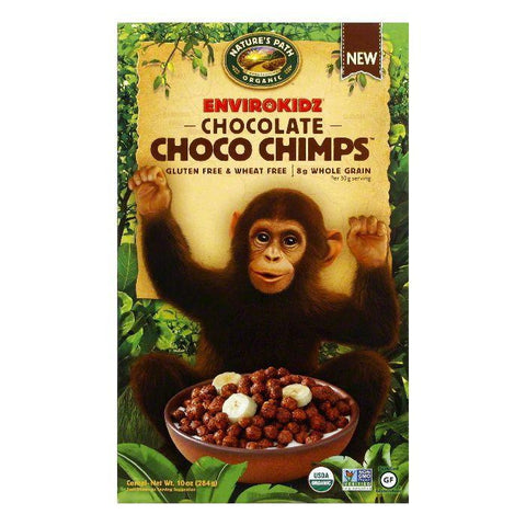 Natures Path Chocolate Choco Chimps Cereal, 10 Oz (Pack of 12)