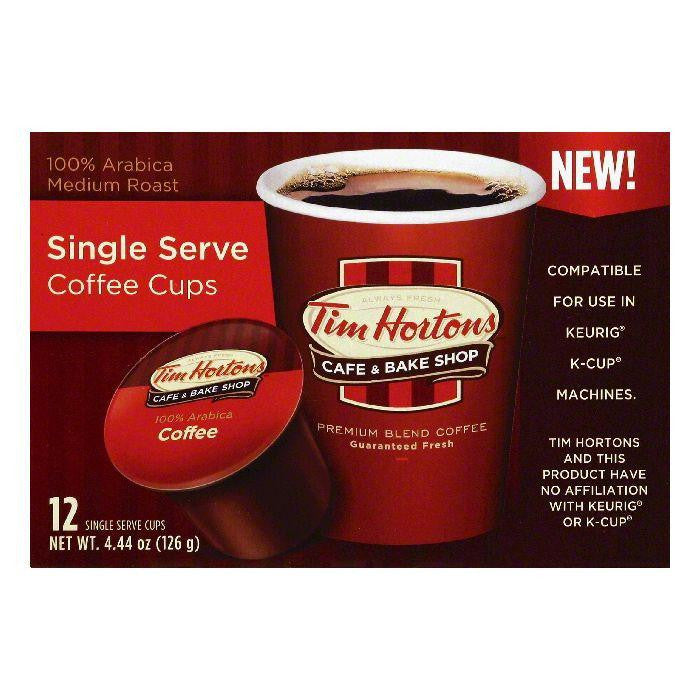 Tim Hortons Medium Roast Single Serve Coffee, 12 ea (Pack of 6)