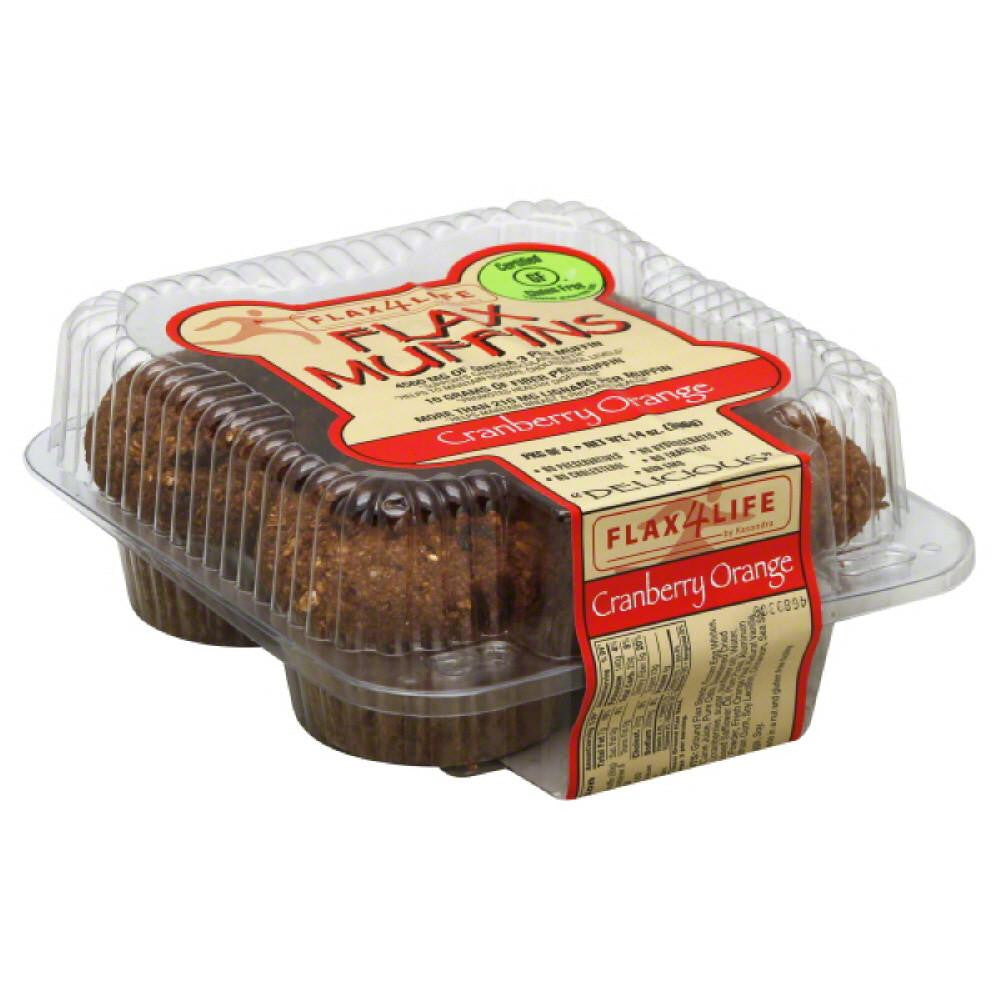 Flax4Life Cranberry Orange Flax Muffins, 14 Oz (Pack of 6)