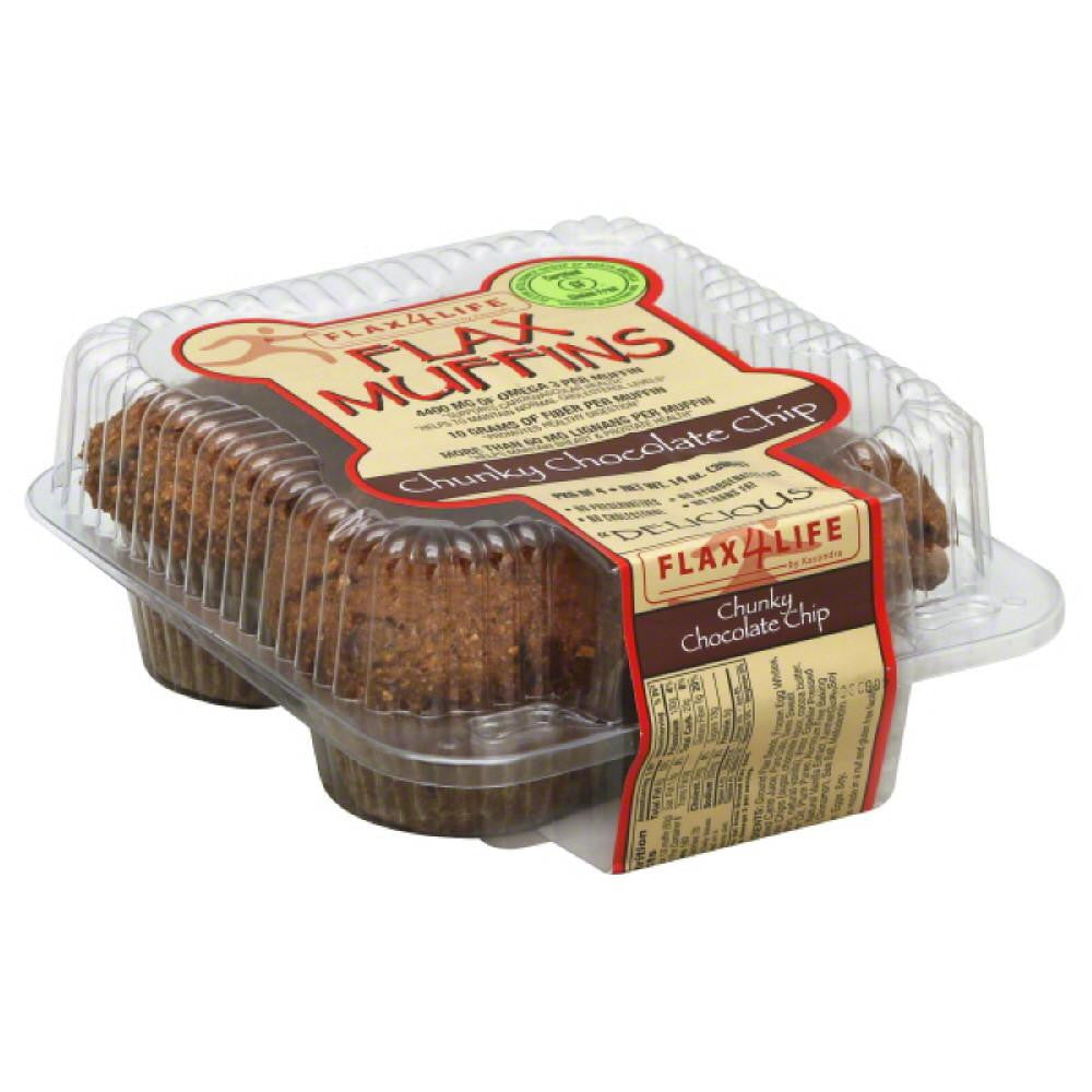 Flax4Life Chunky Chocolate Chip Flax Muffins, 14 Oz (Pack of 6)