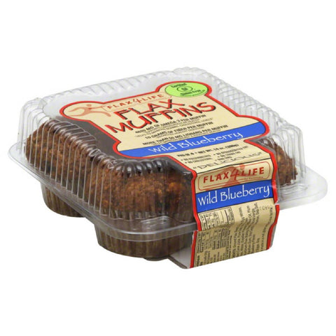 Flax4Life Wild Blueberry Flax Muffins, 14 Oz (Pack of 6)