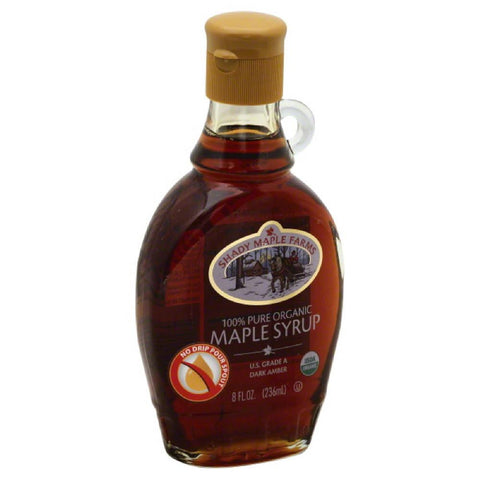 Shady Maple Farms Dark Amber 100% Pure Organic Maple Syrup, 8 Oz (Pack of 6)