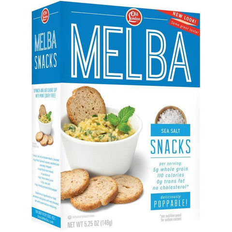 Old London Melba Snacks Sea Salt 5.25 Oz (Pack of 12)