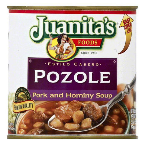 Juanitas Pozole Pork and Hominy Soup, 25 OZ (Pack of 12)