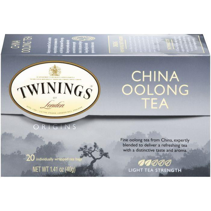 Twinings of London Origins China Oolong Light Tea Bags 20 Ct (Pack of 6)