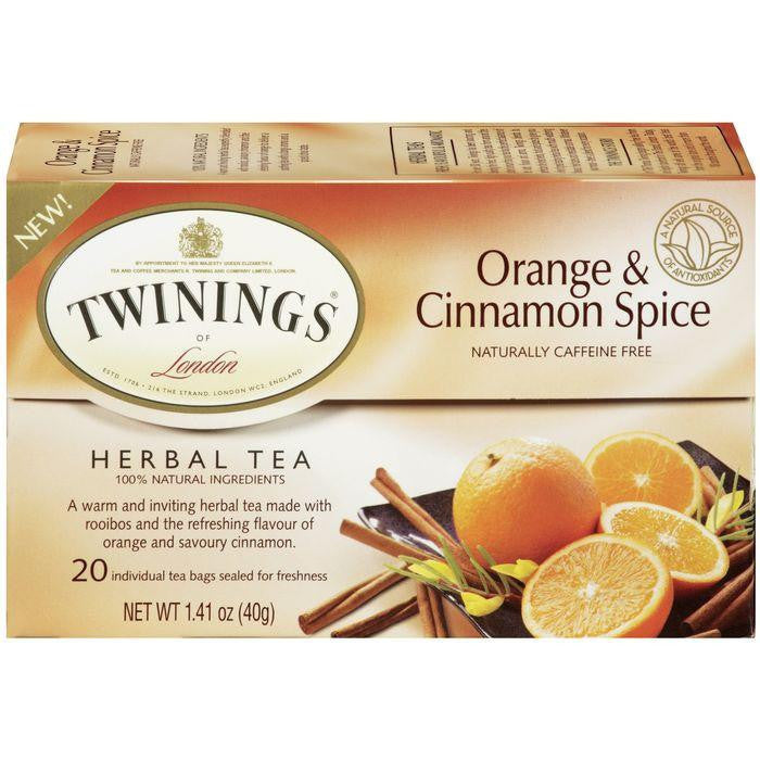 Twinings of London Orange & Cinnamon Spice Herbal Tea 20 (Pack of 6)