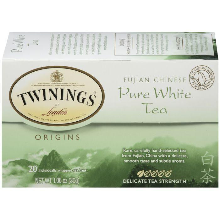 Twinings of London Origins Fujian Chinese Pure White 20 Ct Tea Bags 1.06 Oz  (Pack of 6)