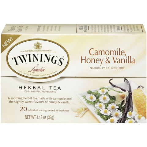 Twinings Camomile, Honey & Vanilla Herbal Tea 20 Ct 1.13 Oz (Pack of 6)