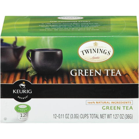 Twinings of London Green Tea 12 K-cups. (Pack of 6)