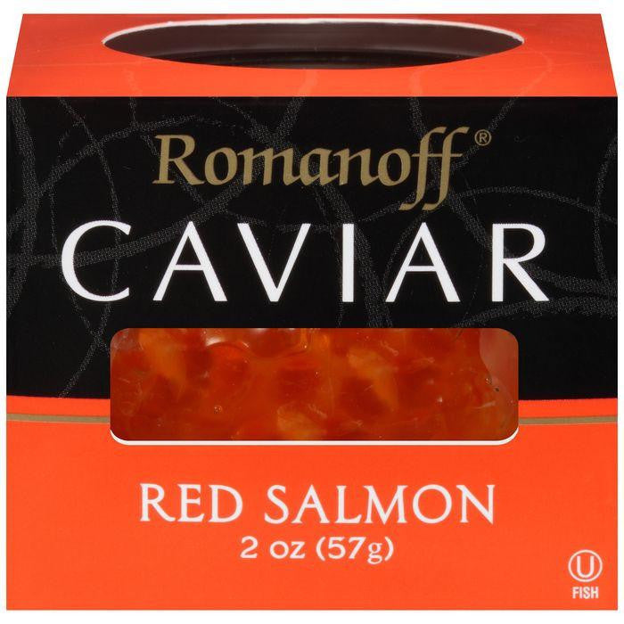 Romanoff Red Salmon Caviar 2 Oz (Pack of 6)