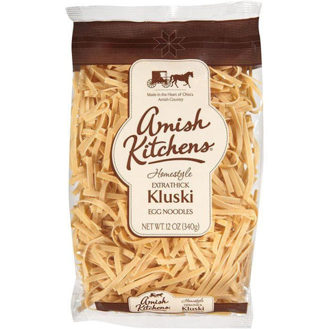 Amish Kitchens Homestyle Extra Thick Kluski Egg Noodles 12 Oz Bag (Pack of 12)