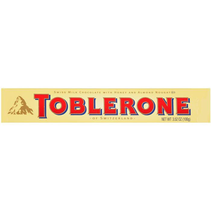 Toblernone Swiss Milk Chocolate with Honey and Almond Nougat 3.52 oz (Pack of 20)