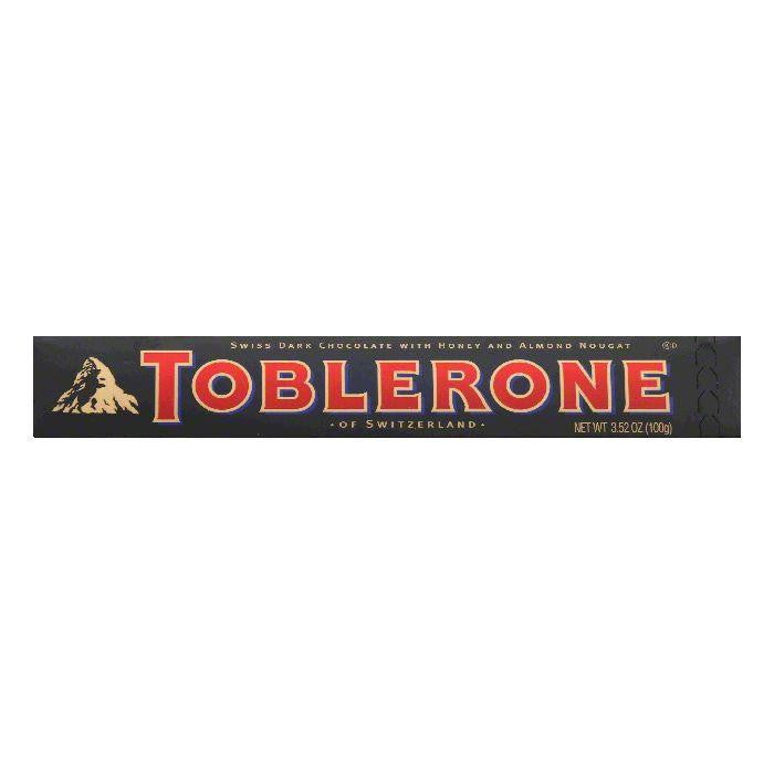 Toblerone Bittersweet Chocolate Bar, 3.52 OZ (Pack of 20)