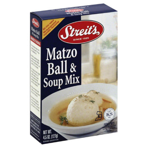 Streits Matzo Ball & Soup Mix, 4.5 Oz (Pack of 12)