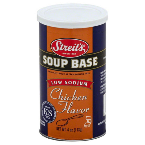 Streits Chicken Flavor Low Sodium Soup Base, 5 Oz (Pack of 6)