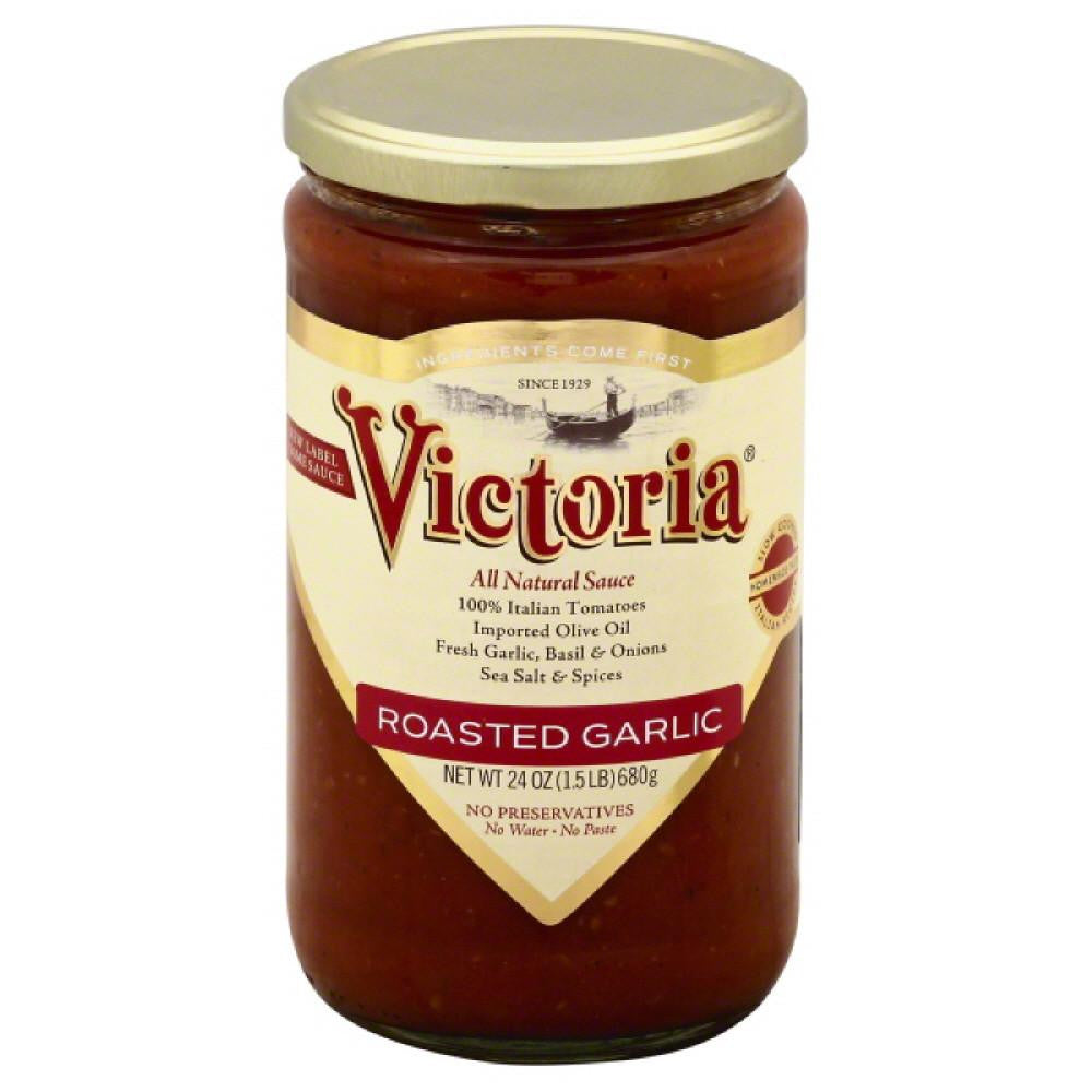 Victoria Roasted Garlic Sauce, 24 Oz (Pack of 6)