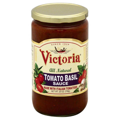 Victoria Tomato Basil Sauce, 24 Oz (Pack of 6)