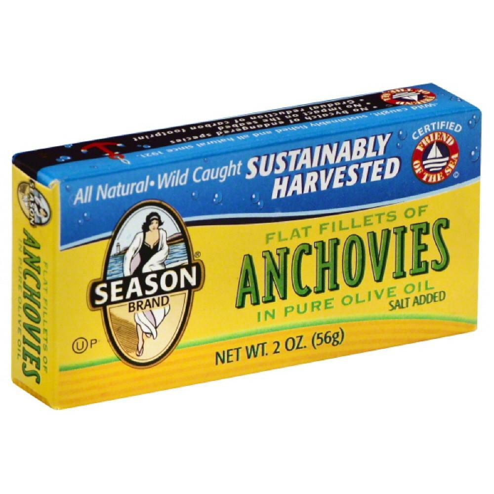 Season Anchovies, 2 Oz (Pack of 12)