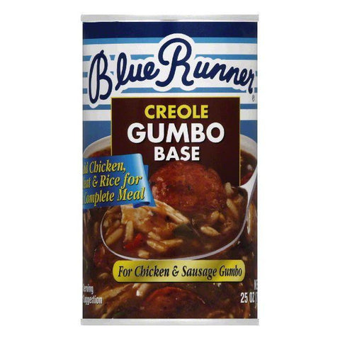 Blue Runner Gumbo Base Creole, 25 OZ (Pack of 6)