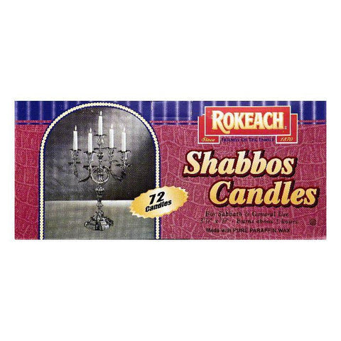 Rokeach 3-3/4 Inch Shabbos Candles, 72 ea (Pack of 8)