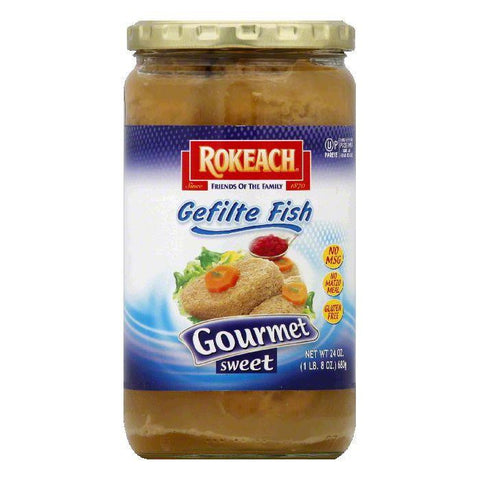 Rokeach Gourmet Sweet Gefilte Fish, 24 OZ (Pack of 12)