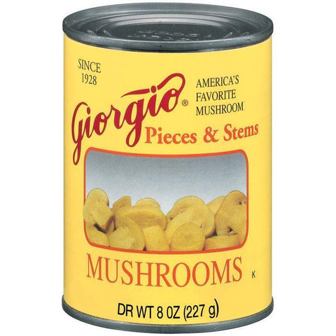 Giorgio Pieces & Stems Mushrooms 8 Oz (Pack of 12)