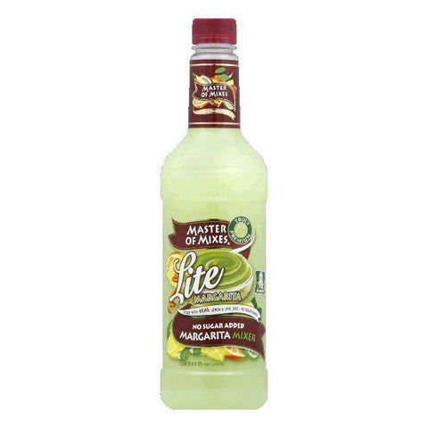 Master of Mixes Lite Margarita Mix, 33.8 OZ (Pack of 6)