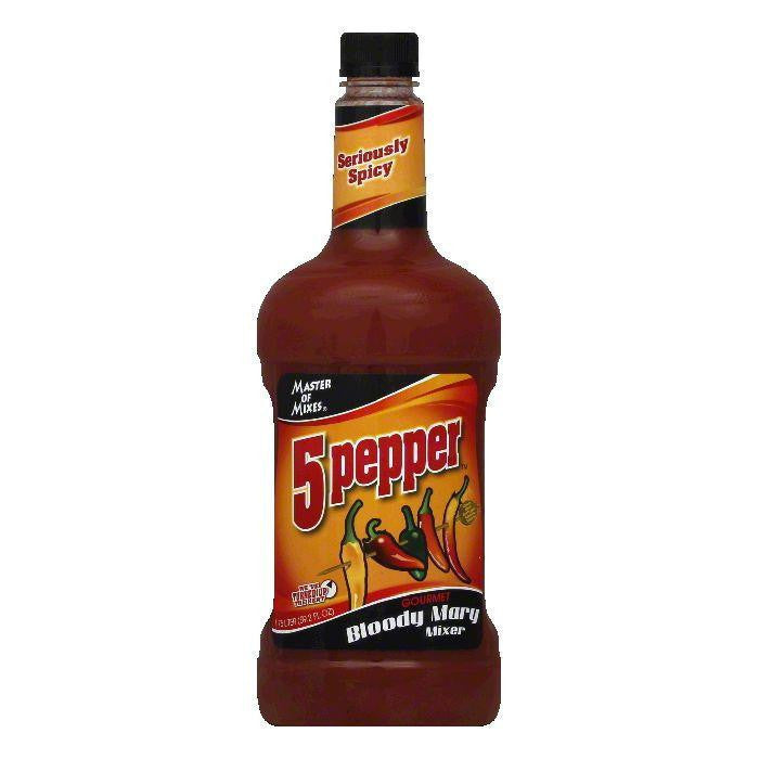 Master of Mixes Bloody Mary Mix 5 Pepper, 1.75 LT (Pack of 6)