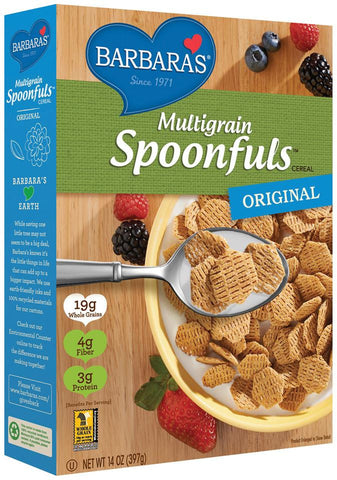 Barbara's Shredded Spoonfuls Multigrain, 14 OZ (Pack of 6)
