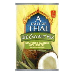 A Taste of Thai Gluten Free Lite Coconut Milk, 13.5 FO (Pack of 12)