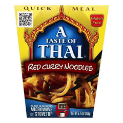 A Taste of Thai Red Curry Noodles, 5.75 OZ (Pack of 6)