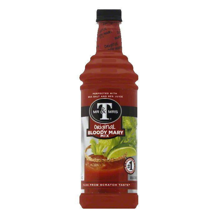 Mr. & Mrs. T Bloody Mary Mix, 33.8 OZ (Pack of 12)