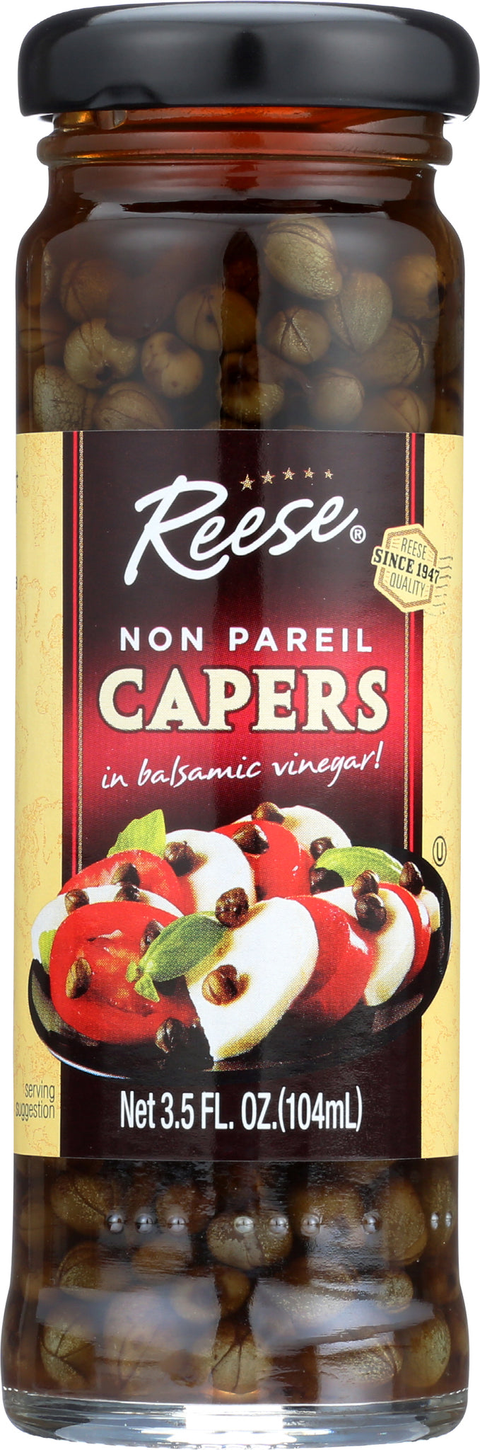 Reese Balsamic Vinegar Non Pareil Capers, 3.5 OZ (Pack of 12)