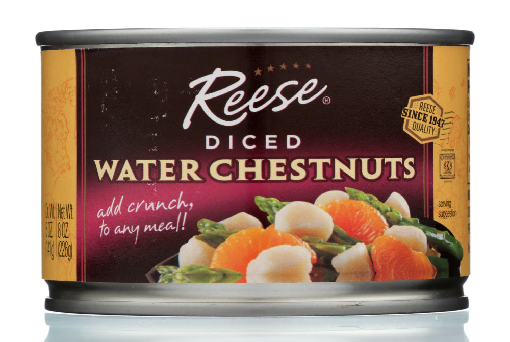 Reese Diced Waterchestnuts, 8 OZ (Pack of 24)