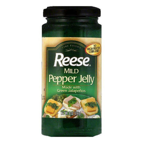 Reese Mild Jalapeno Jelly, 10 OZ (Pack of 6)