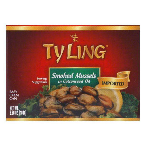 Tyling Smoked Mussels, 3.66 OZ (Pack of 10)