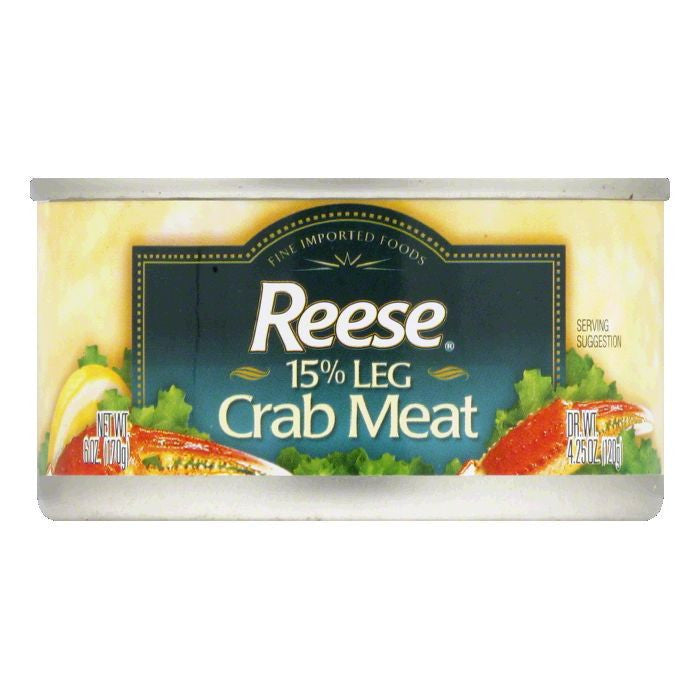 Reese Fancy 15% Leg Crabmeat, 6 OZ (Pack of 12)