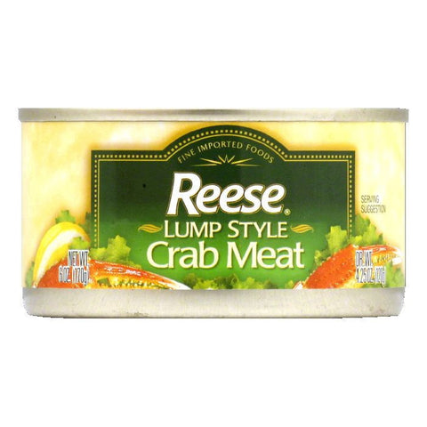 Reese Lump Style Crabmeat, 6 OZ (Pack of 12)