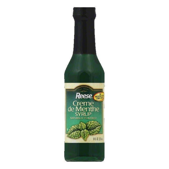 Reese Creme De Menthe Syrup, 8 OZ (Pack of 12)