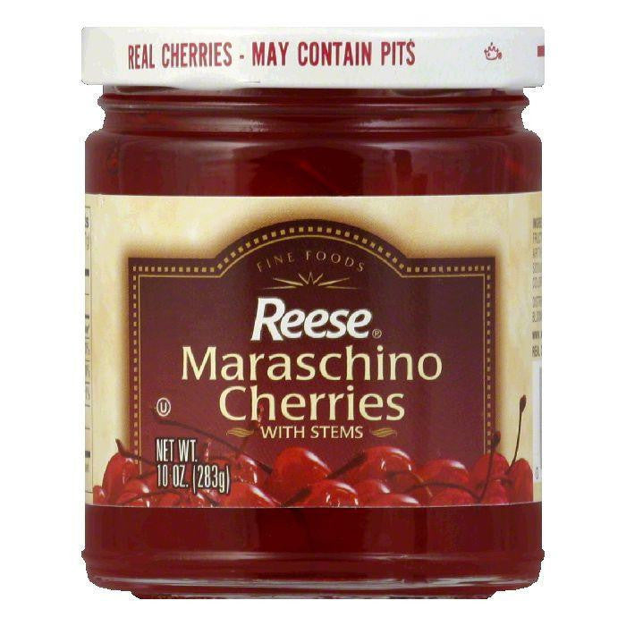 Reese Red Maraschino with Stem, 10 OZ (Pack of 12)